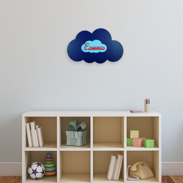 Personalised Wooden Cloud Wall Sign