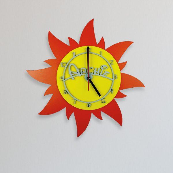 Personalised Wooden Children's Sun Clock