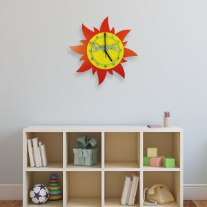 Personalised Wooden Children's Sun Clock