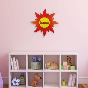 Personalised Wooden Sun Wall Sign