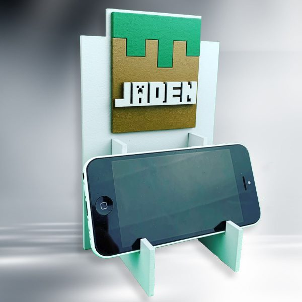 Blocks Personalised Wooden Phone / Game Stand