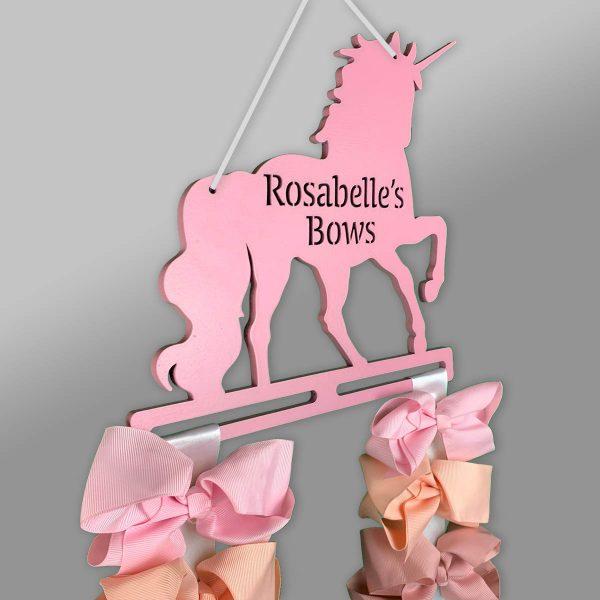 Personalised Unicorn Bow Holder