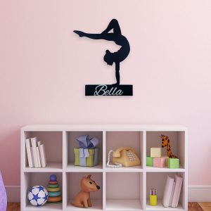 Wooden Gymnast Wall Sign