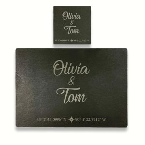 Personalised Slate GPS Placemat/Coaster Bundle