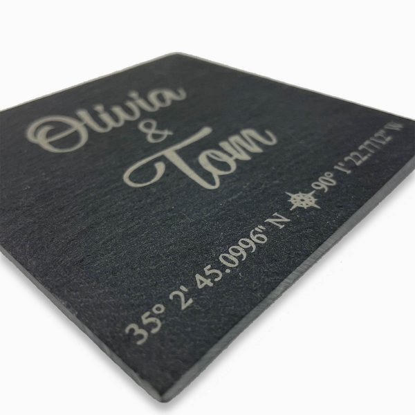 Personalised Slate GPS Drinks Coasters