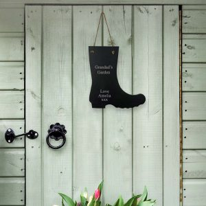 Personalised Slate Wellie Sign