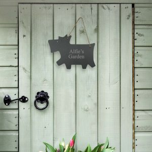 Personalised Slate Dog Name Sign