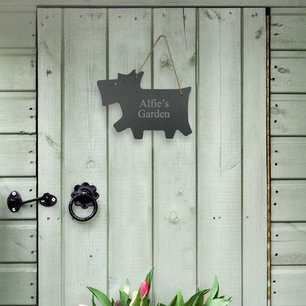 Personalised Slate Dog Name Sign