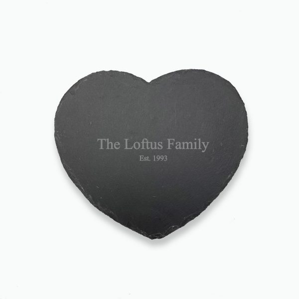 Personalised Slate Heart Placemat