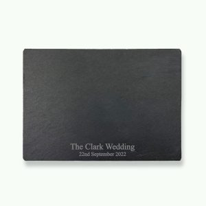 Personalised Slate Wedding Placemat