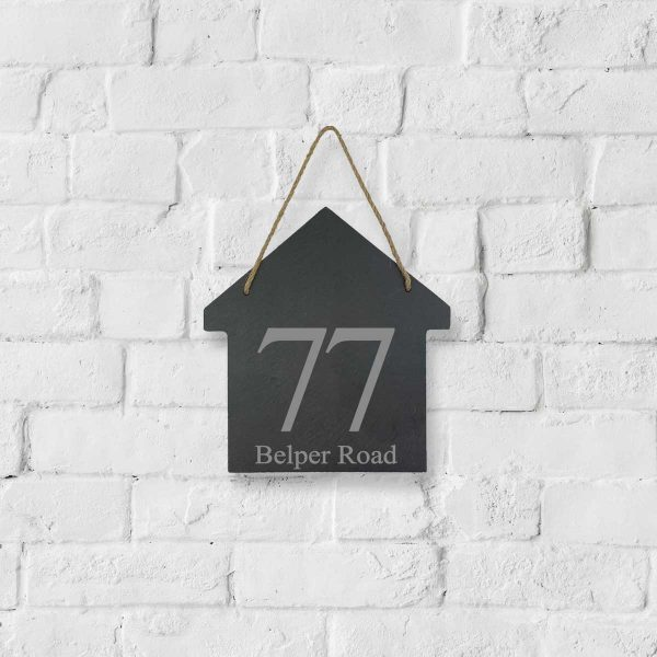 Personalised Slate Address Sign