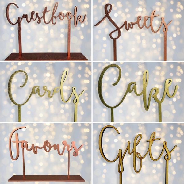 Guestbook, Sweets, Cards, Cake, Gift & Favours Wedding Sign Bundle