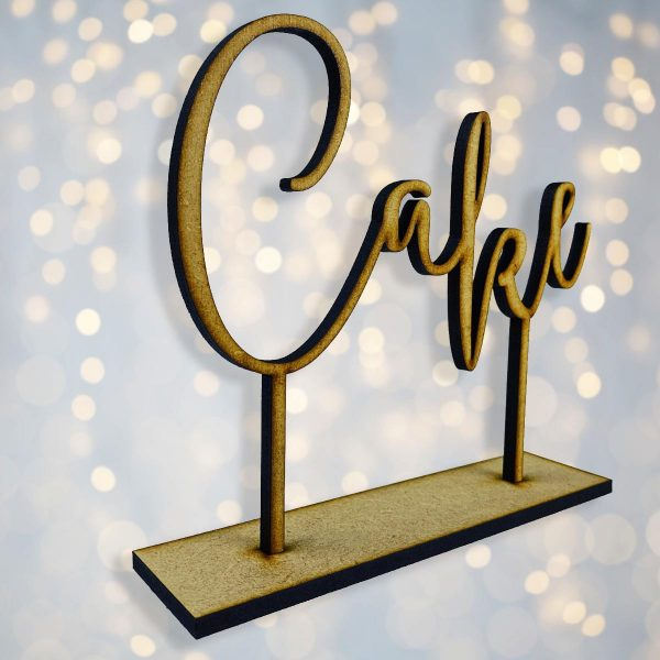 Standing Cake Sign