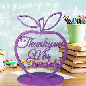 Thank you Teacher Standing Apple Cutout