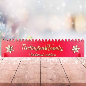 Star Countdown To Christmas Standing Sign