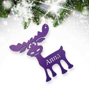 Reindeer Cutout Christmas Bauble